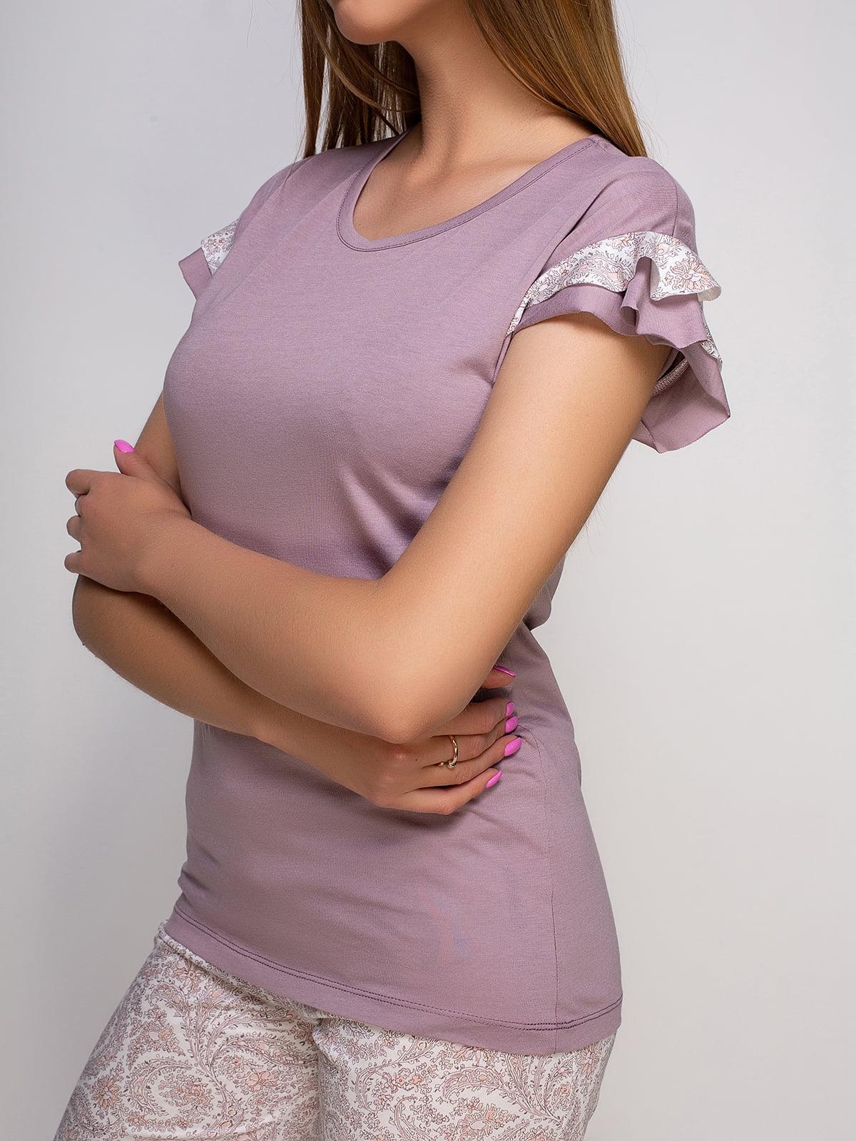Пижама: футболка и бриджи   4480292   фото 3