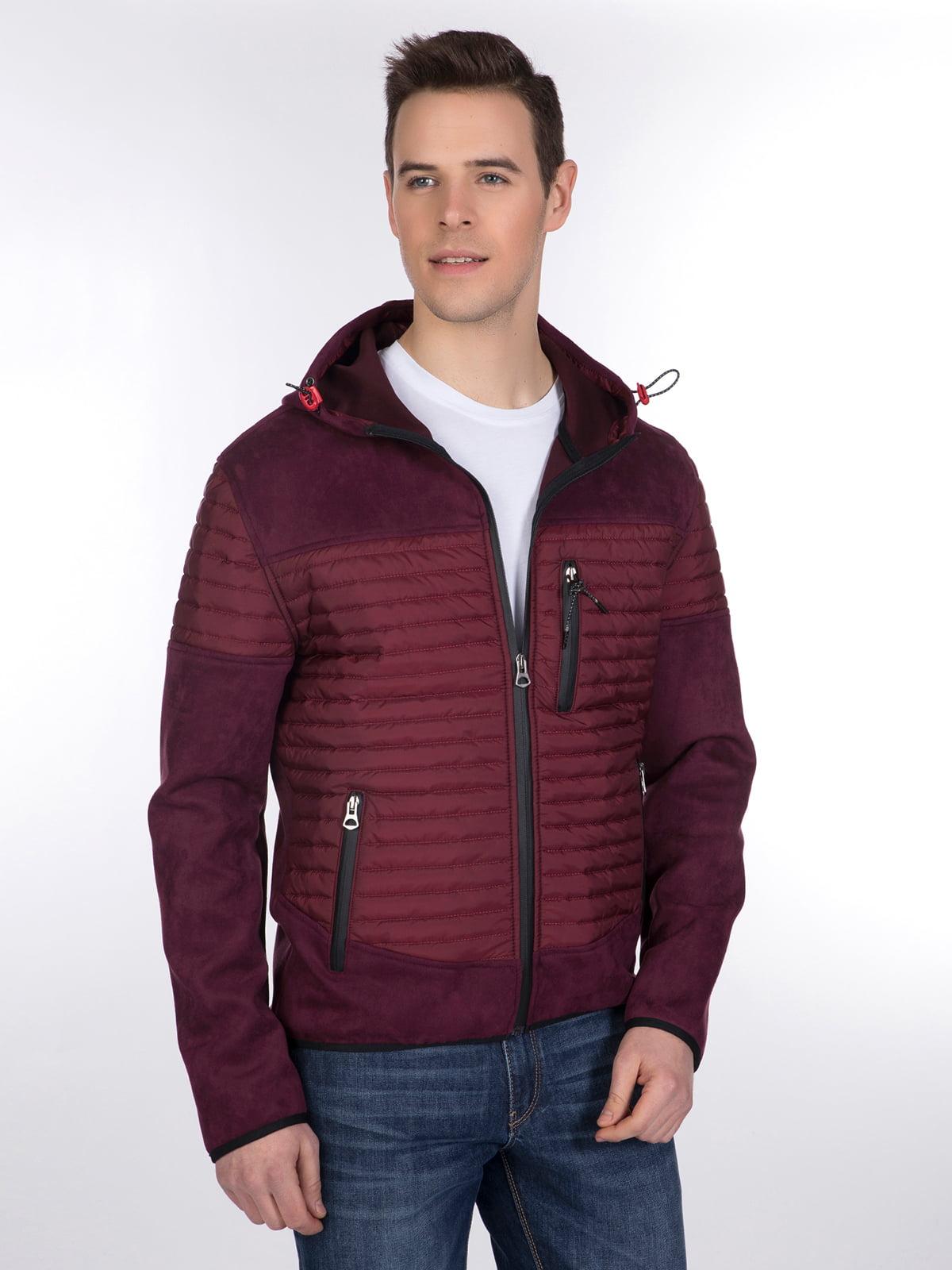 Куртка бордовая | 3989638 | фото 2