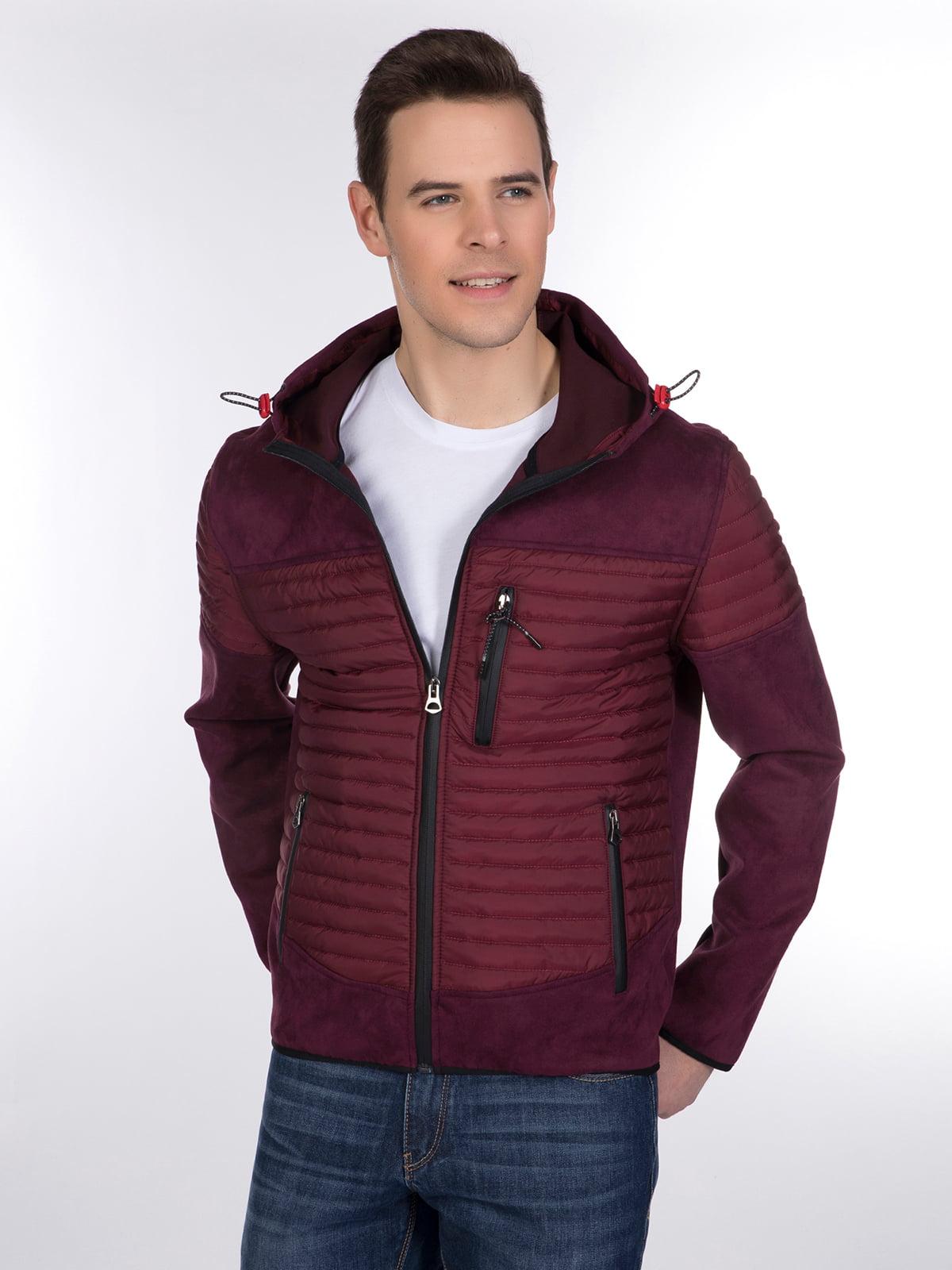Куртка бордовая | 3989638 | фото 3