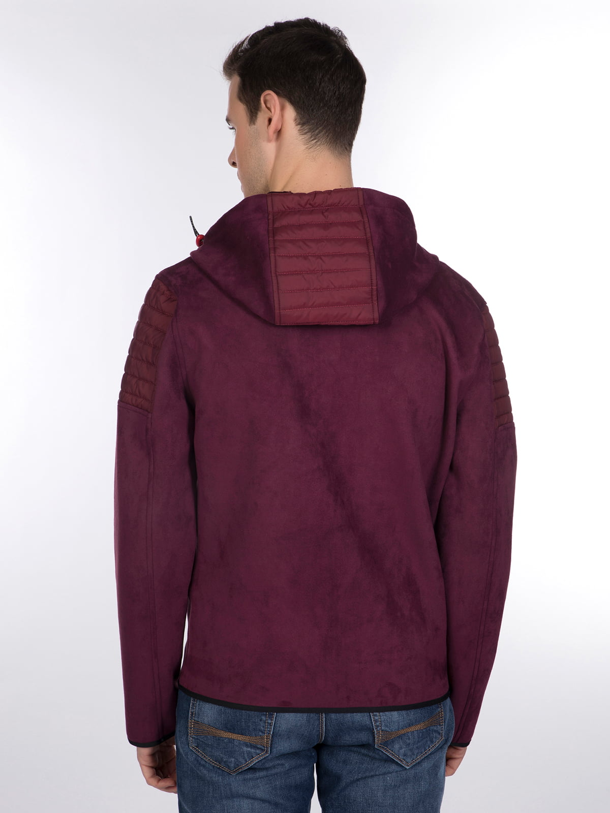 Куртка бордовая | 3989638 | фото 4