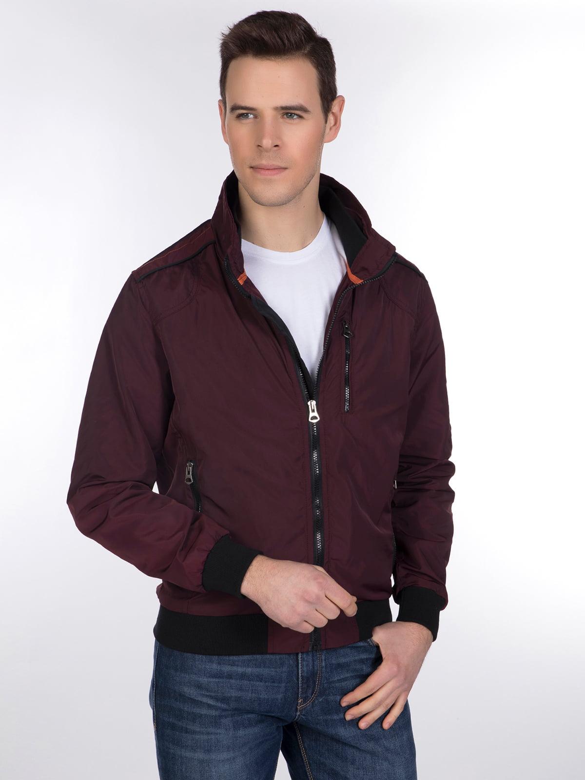 Куртка бордовая | 3989649 | фото 3