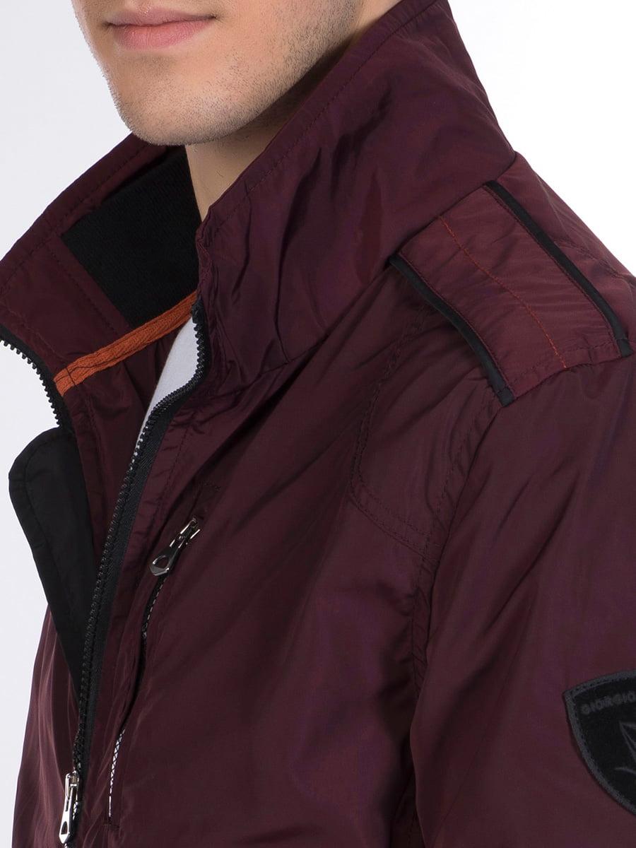 Куртка бордовая | 3989649 | фото 4