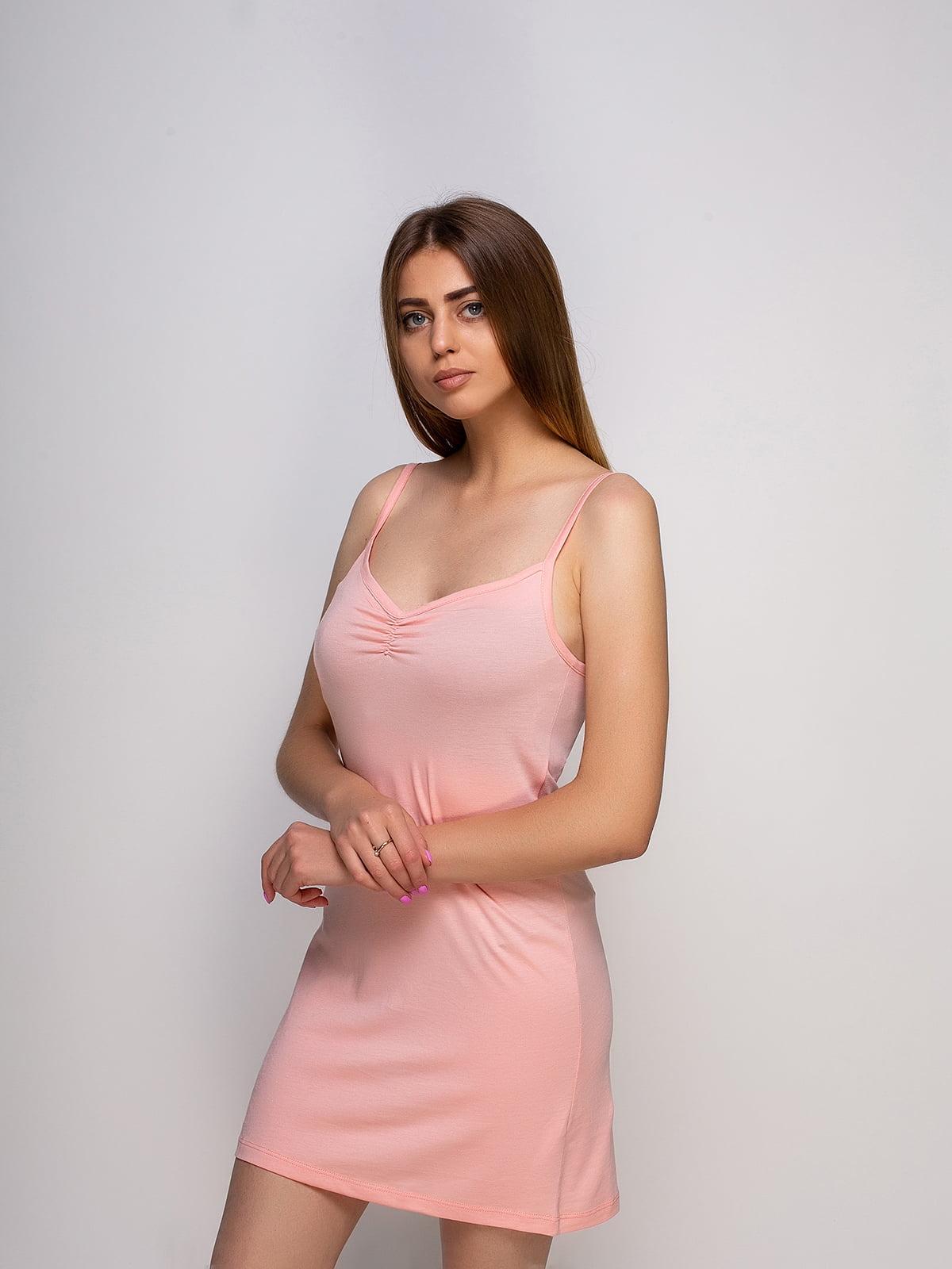 Рубашка ночная персикового цвета   4480280