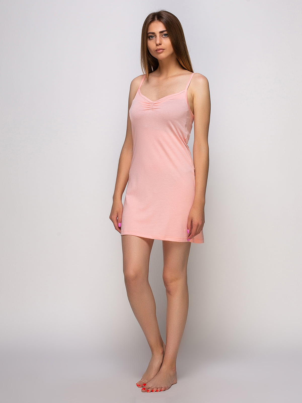Рубашка ночная персикового цвета   4480280   фото 2
