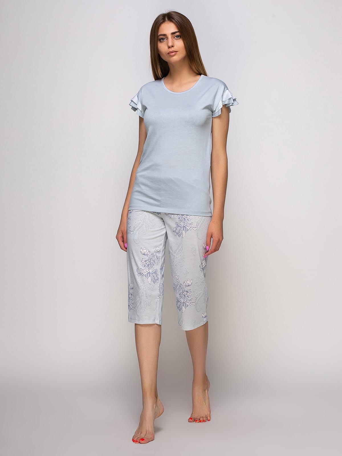 Пижама: футболка и бриджи   4480290