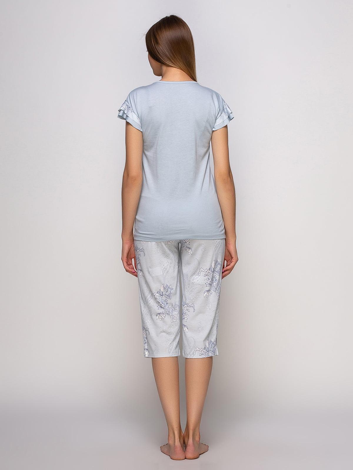 Пижама: футболка и бриджи   4480290   фото 2