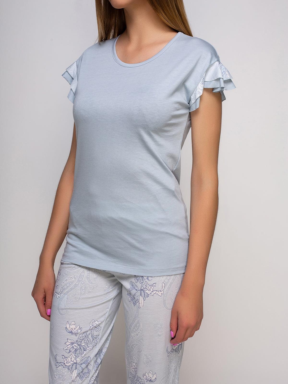 Пижама: футболка и бриджи   4480290   фото 3