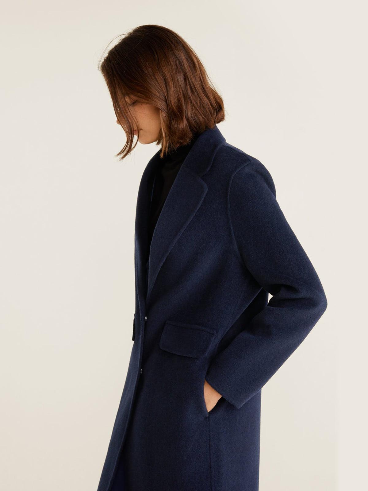 Пальто синее | 4489369 | фото 3
