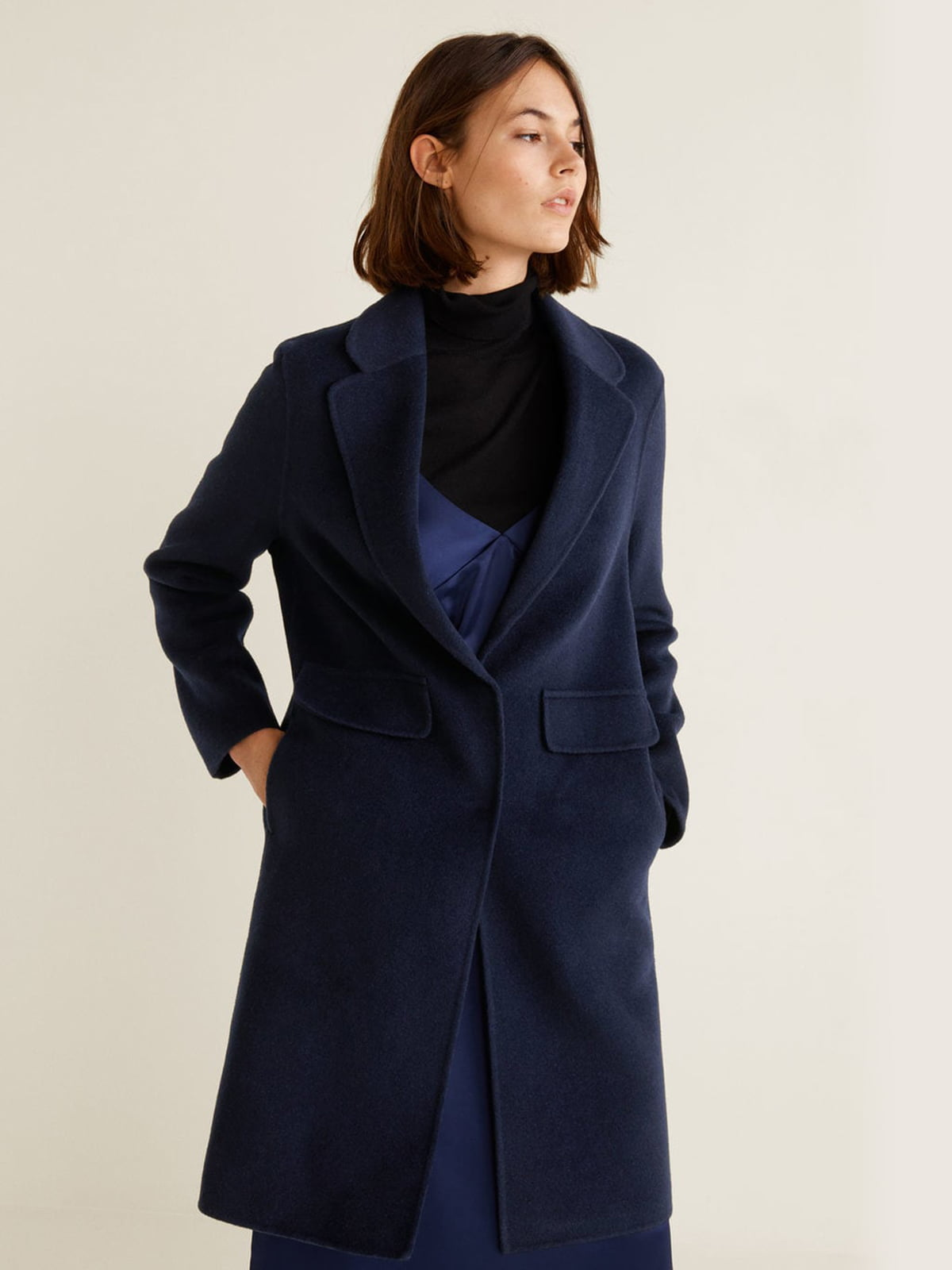 Пальто синее | 4489369 | фото 4