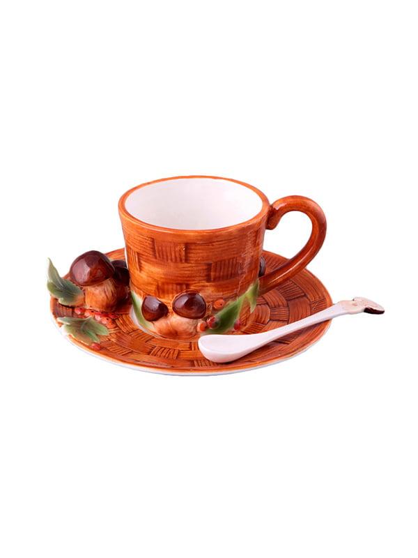 Набор чайный «Грибная поляна» (2 предмета) с ложкой   4493518