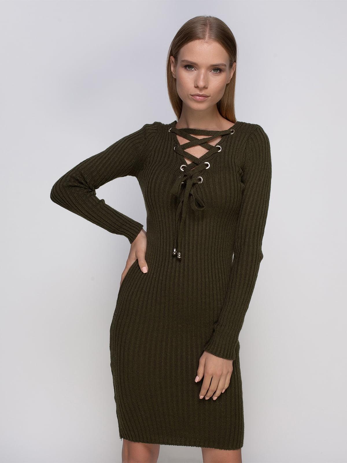 Платье цвета хаки | 4480883