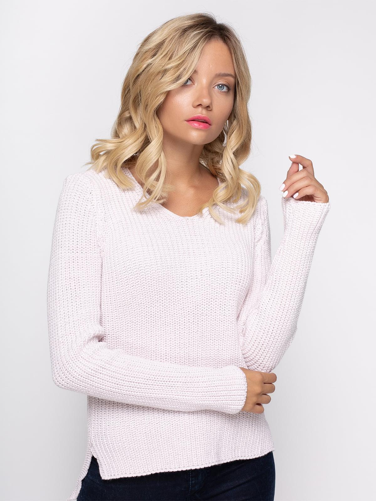 Пуловер цвета пудры | 4480678