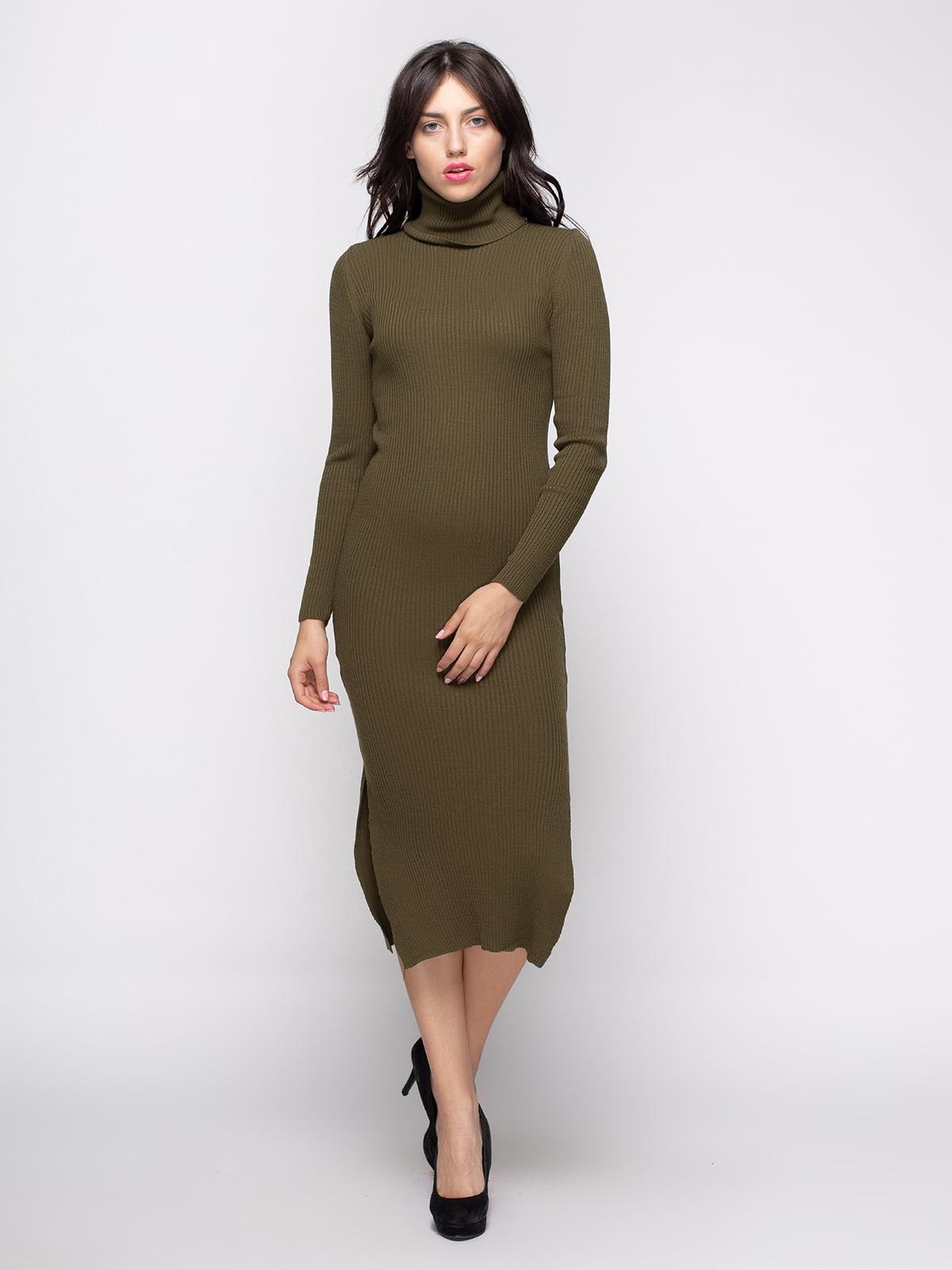 Платье цвета хаки | 4480721