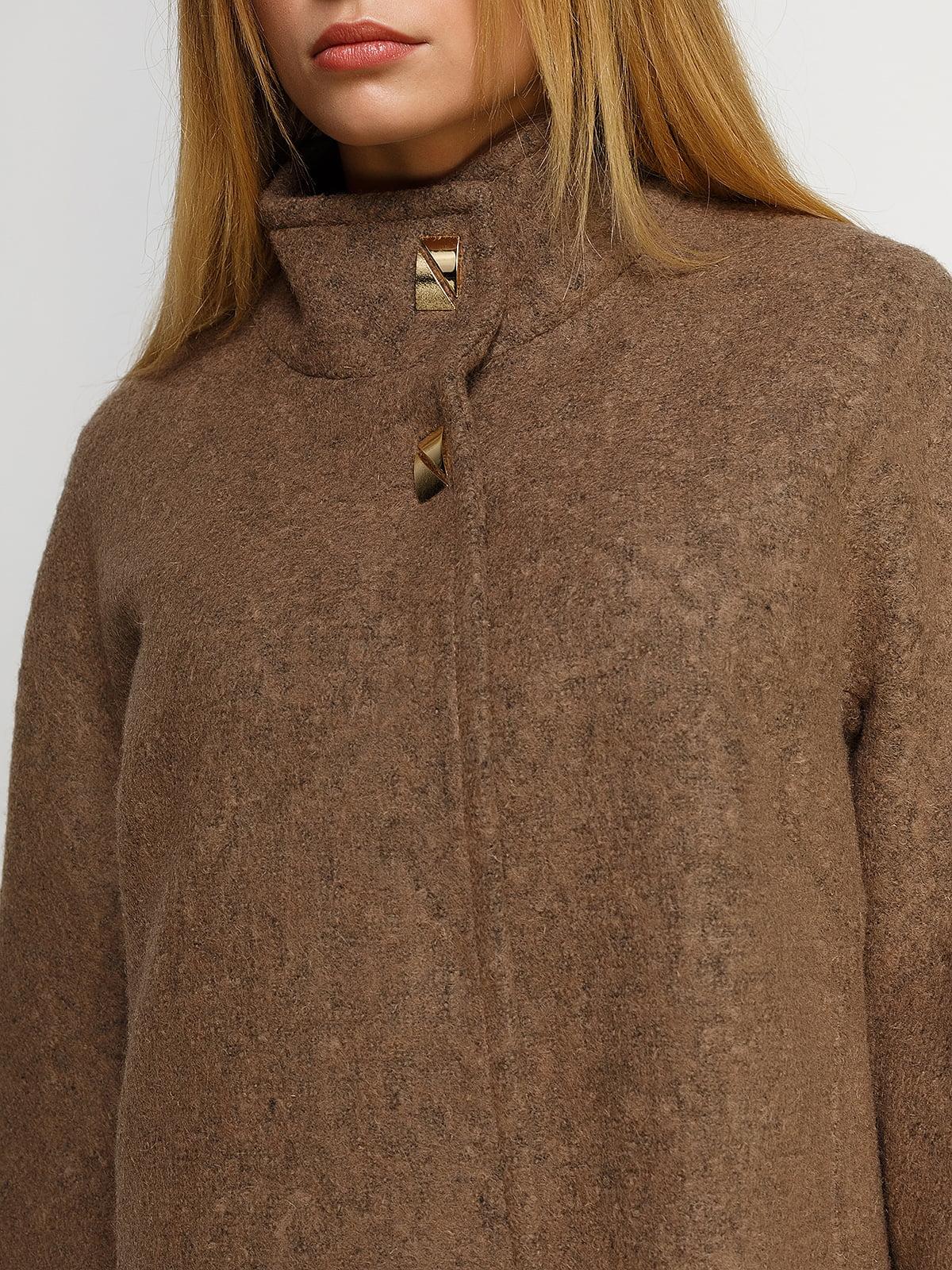 Пальто цвета мокко | 4492598 | фото 3