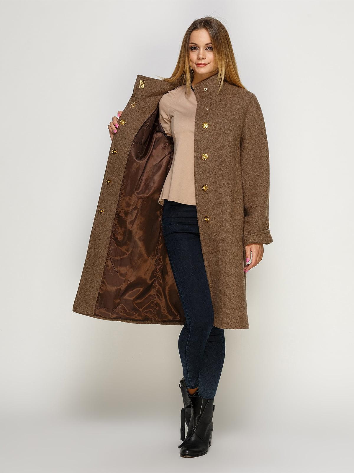 Пальто цвета мокко | 4492598 | фото 4