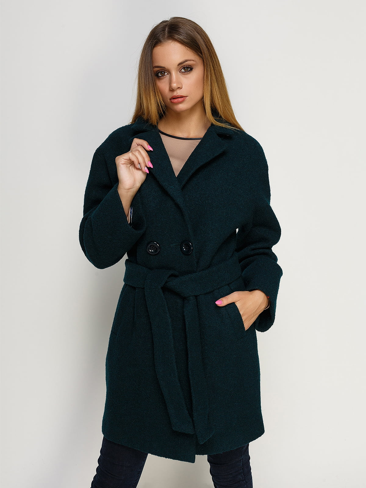 Пальто зеленое | 4492593