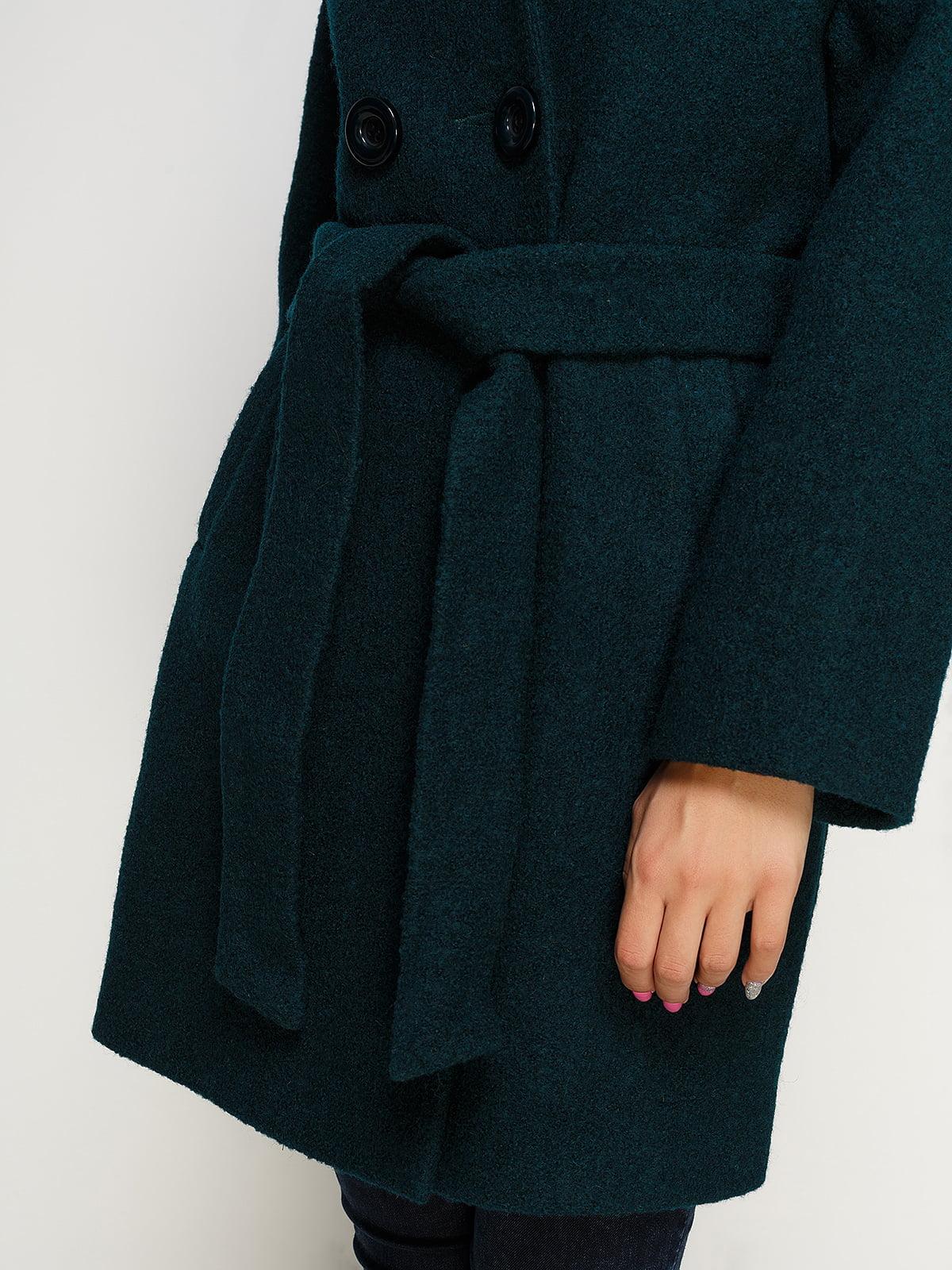 Пальто зеленое | 4492593 | фото 4