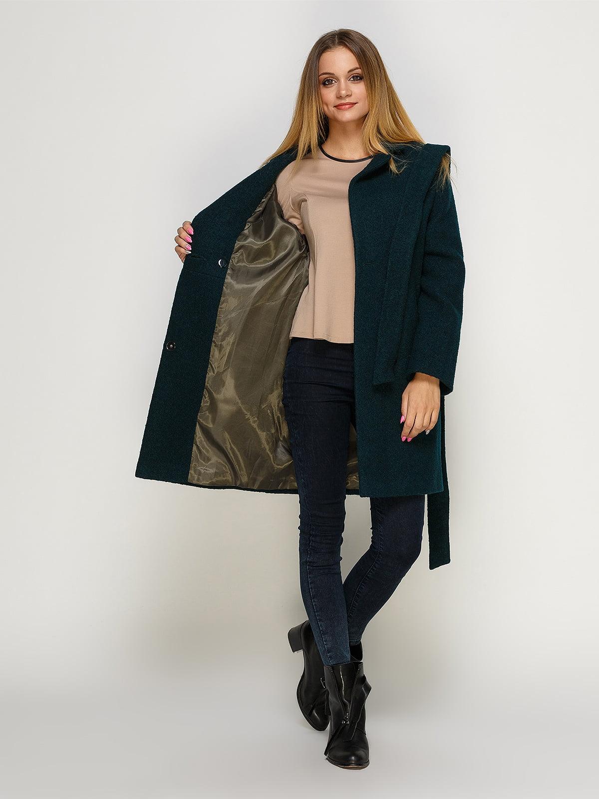 Пальто зеленое | 4492593 | фото 5