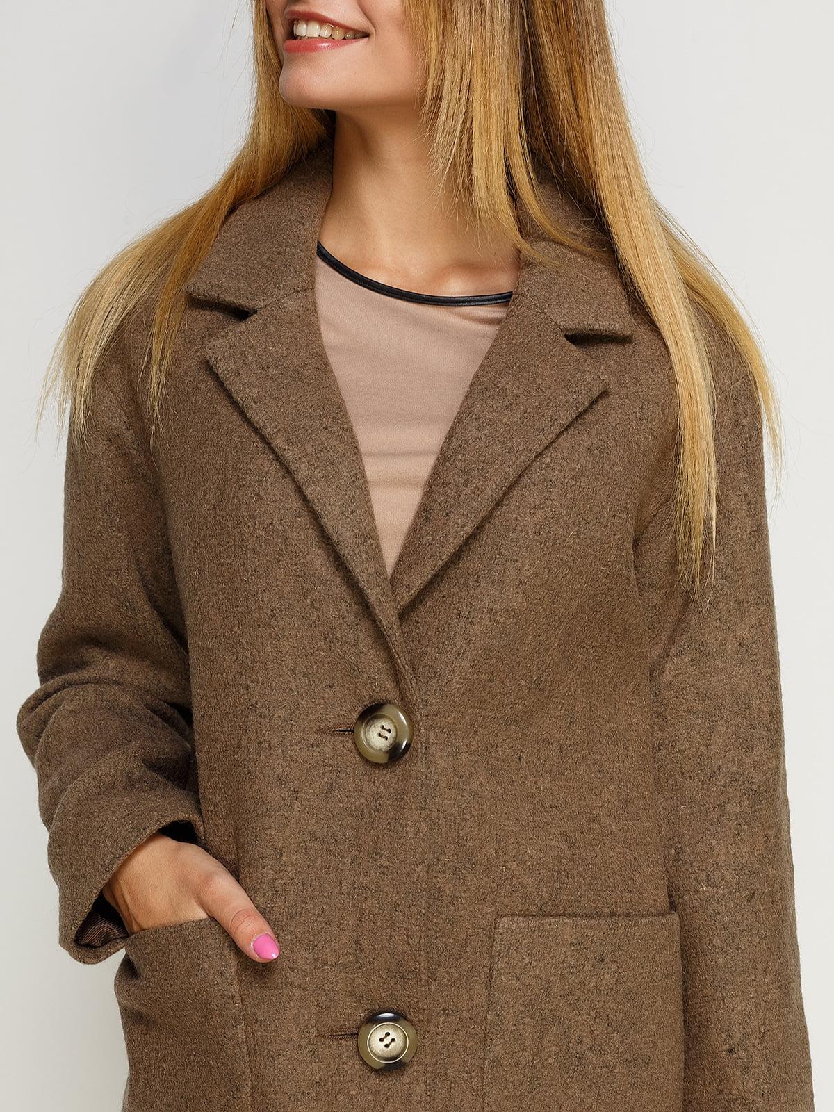 Пальто цвета мокко | 4492603 | фото 3