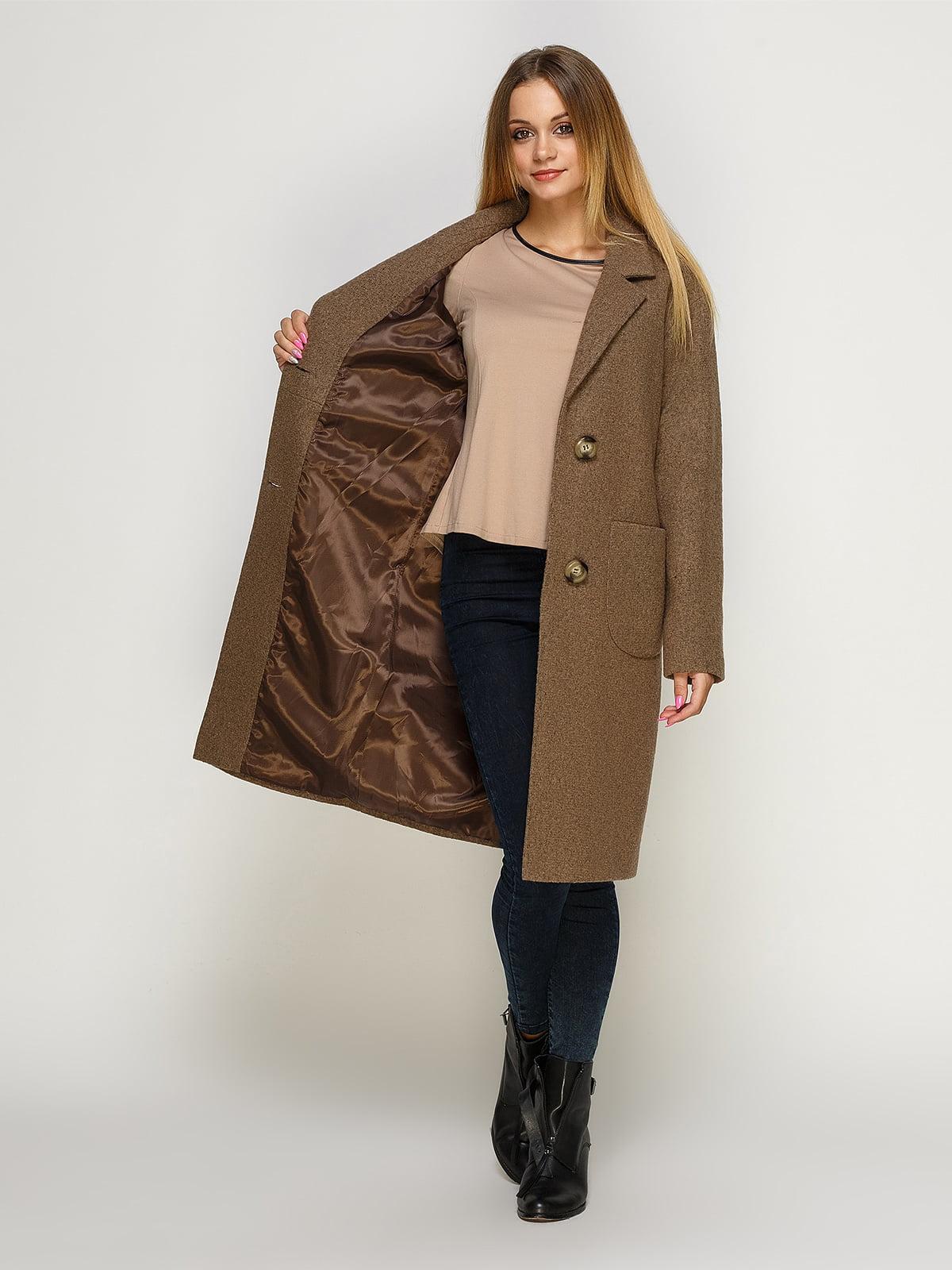 Пальто цвета мокко | 4492603 | фото 4