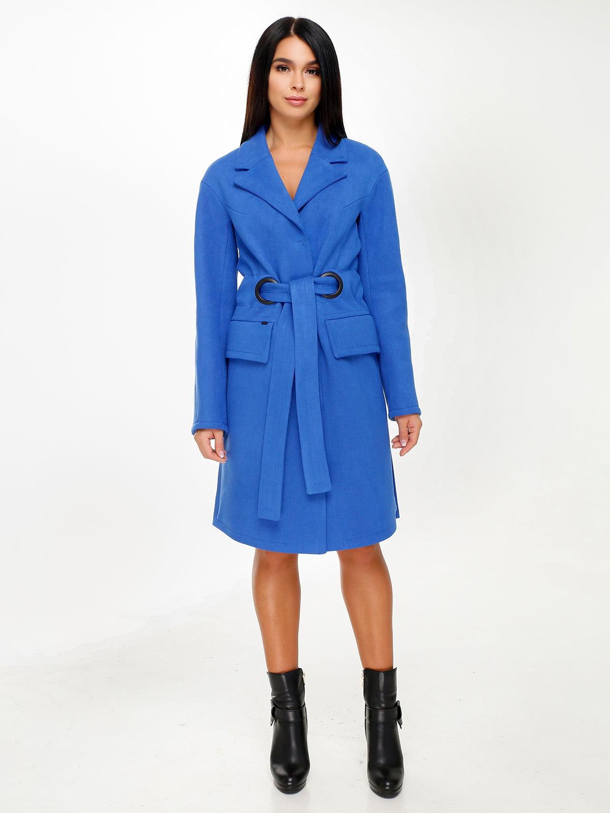 Пальто цвета электрик | 4498643