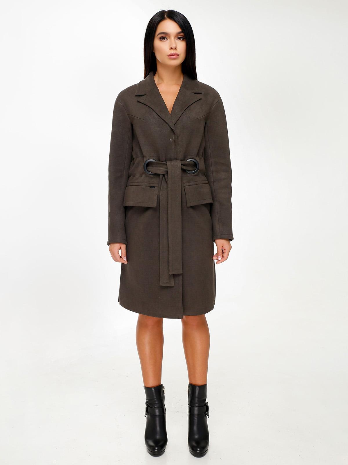 Пальто кольору хакі   4498646