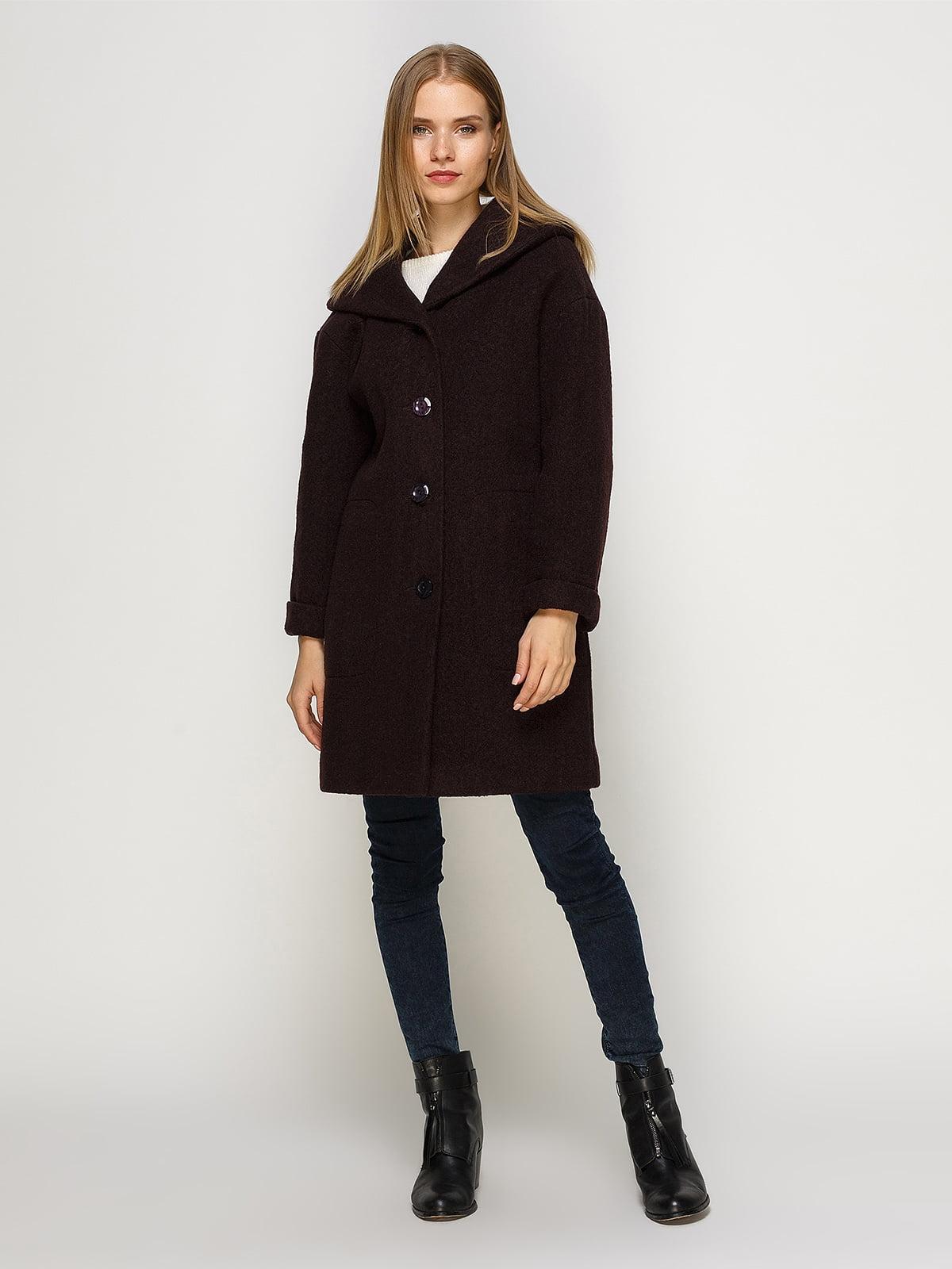 Пальто шоколадного цвета | 4492620 | фото 2