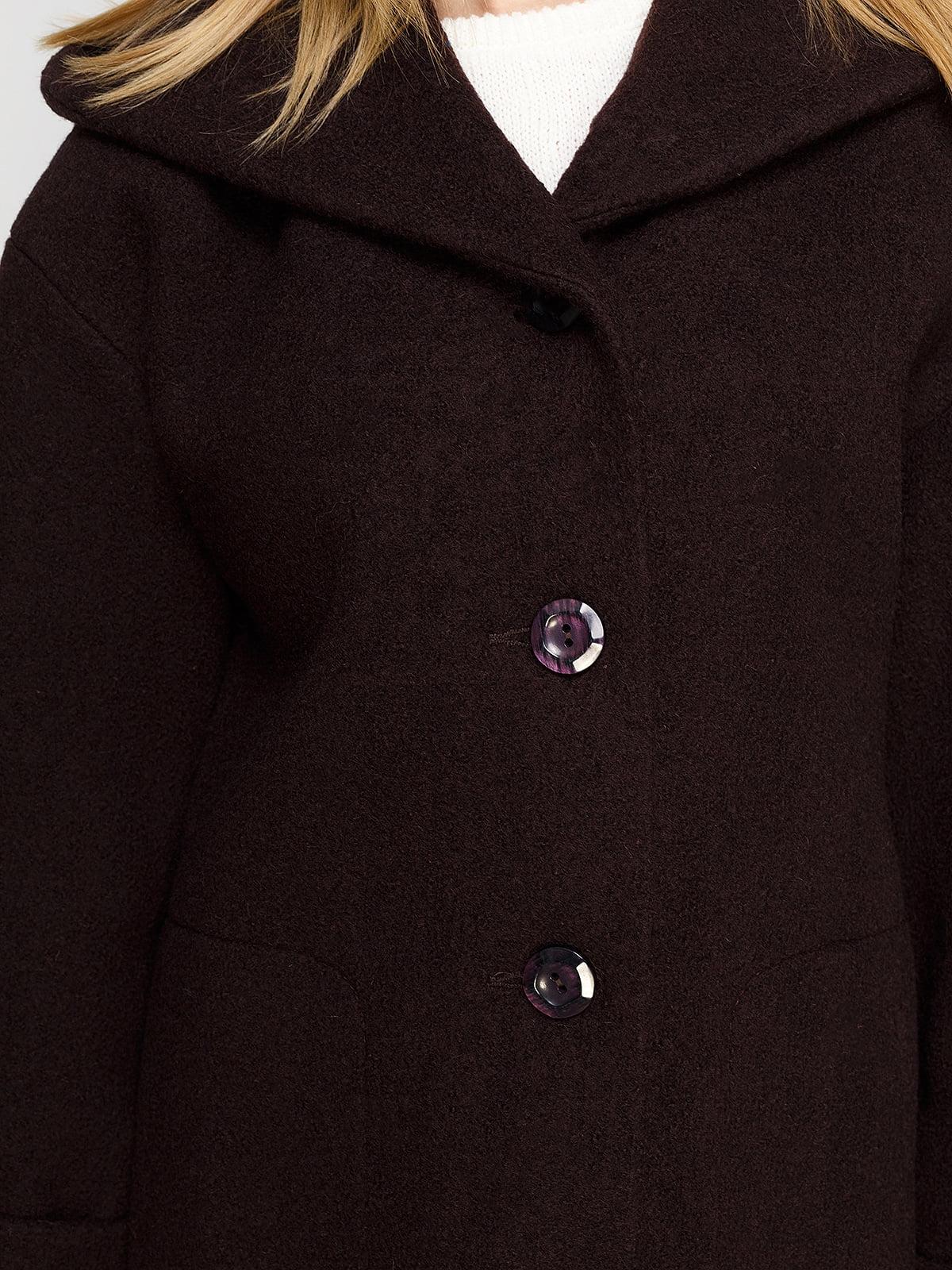 Пальто шоколадного цвета | 4492620 | фото 4