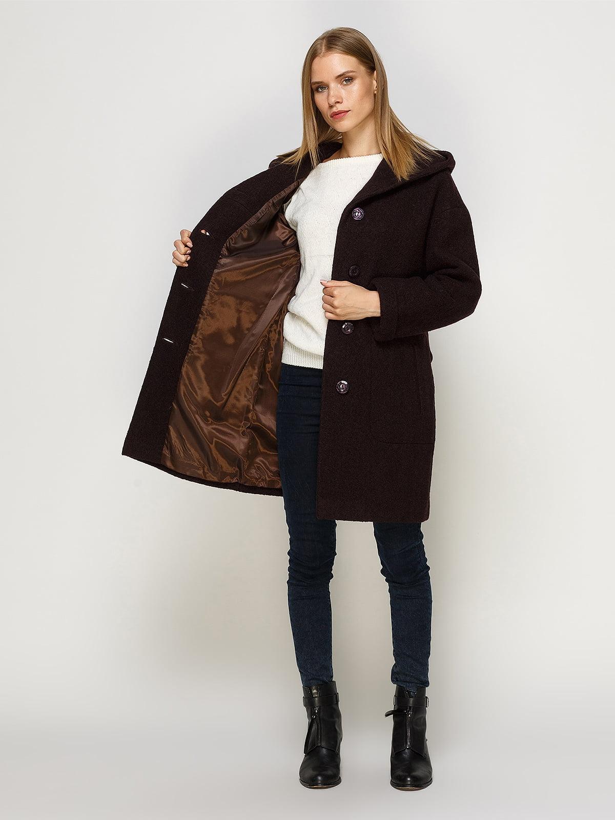 Пальто шоколадного цвета | 4492620 | фото 5