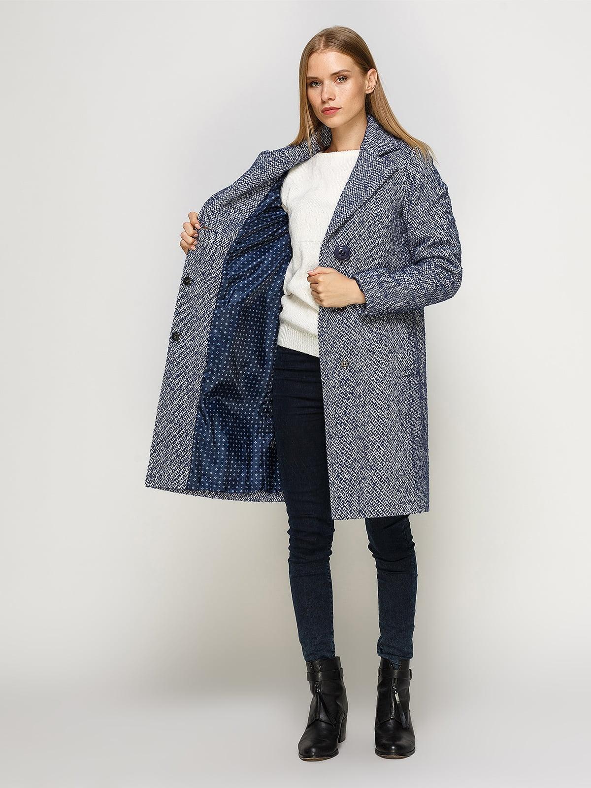 Пальто светло-синее | 4492631 | фото 5