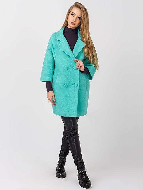 Пальто бірюзове | 4510910