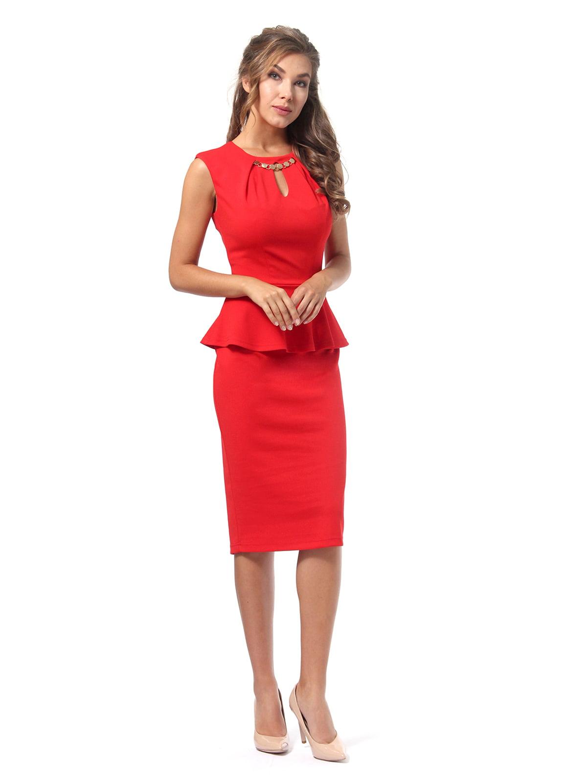 Платье красное | 4518835 | фото 3