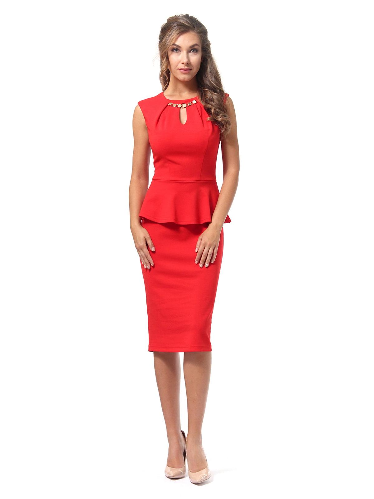 Платье красное | 4518835 | фото 4