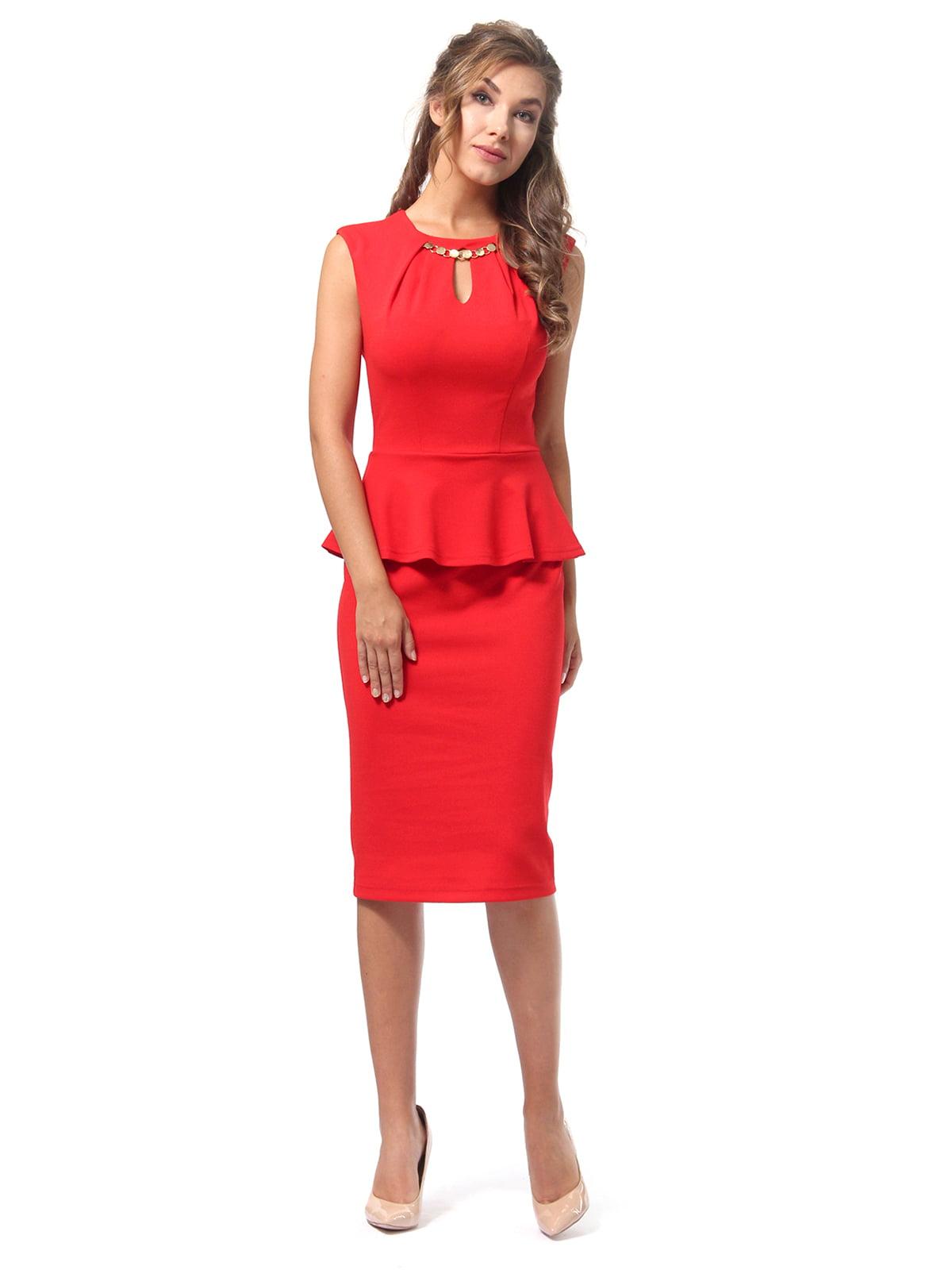 Платье красное | 4518835 | фото 5