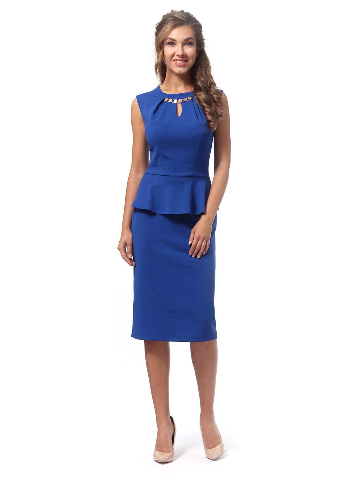 Платье цвета электрик | 4518839 | фото 2