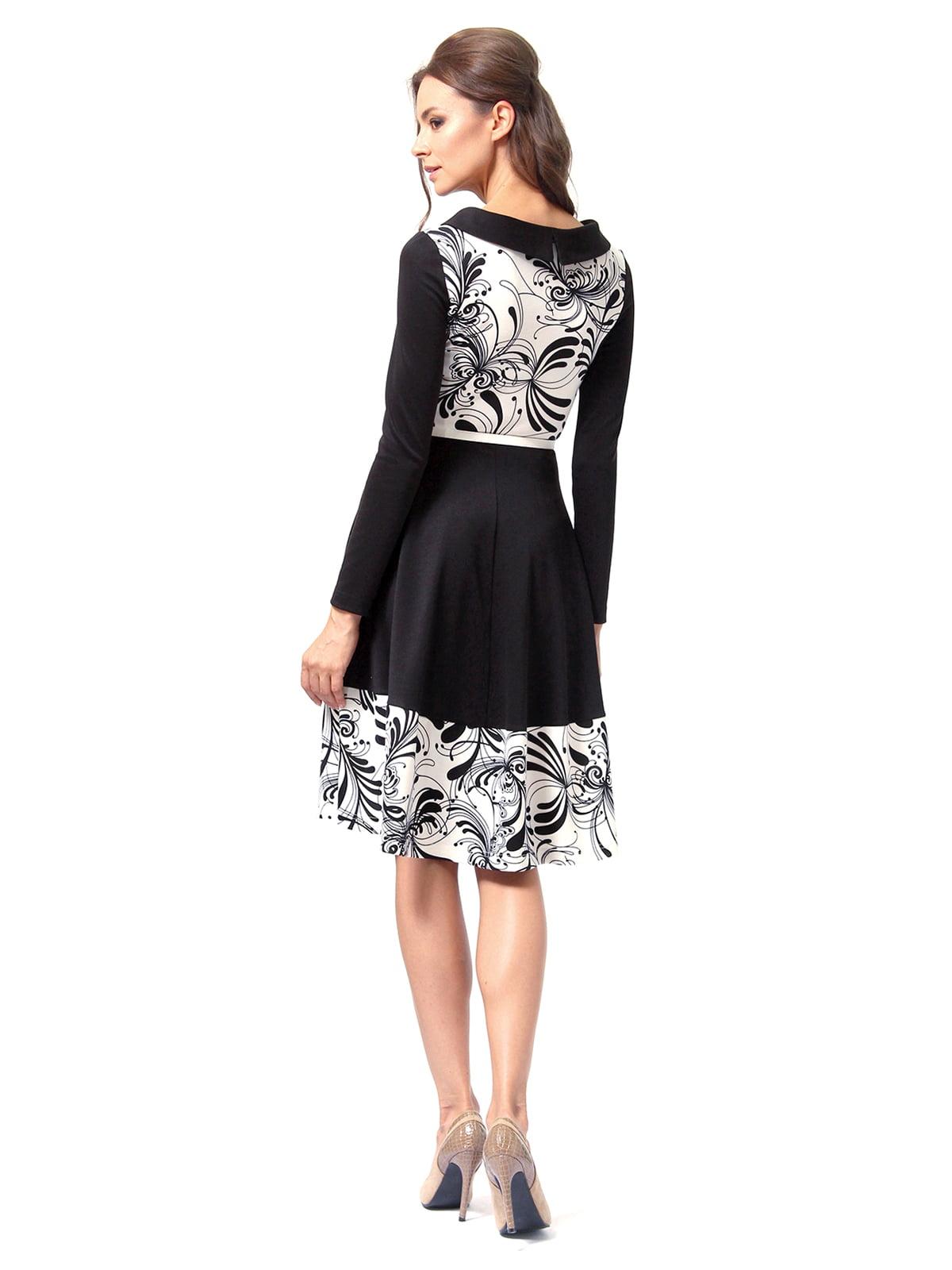 Платье черное с принтом | 4518856 | фото 5