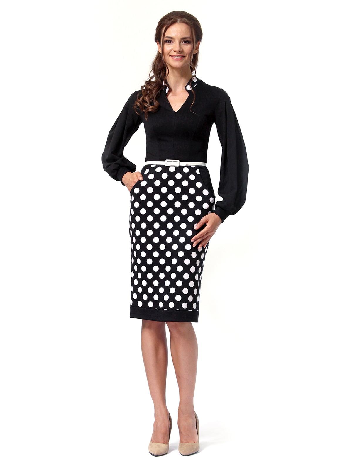 Платье черное в горошек | 4518868