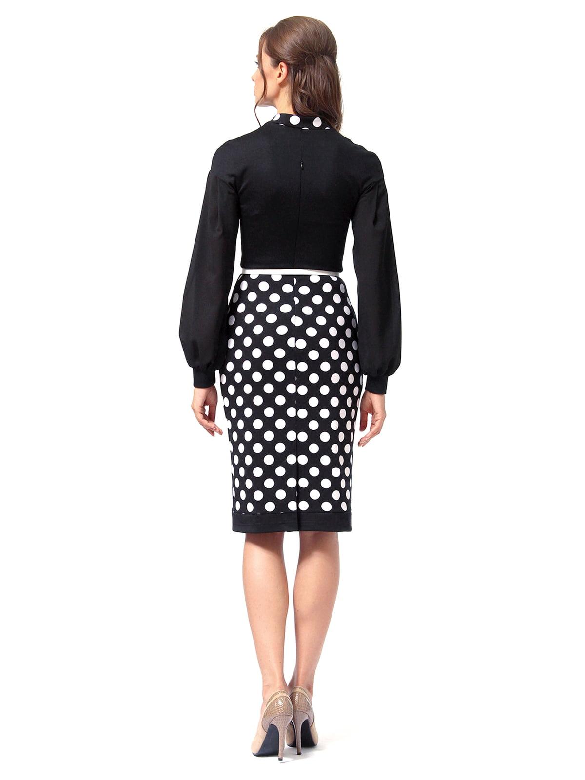 Платье черное в горошек | 4518868 | фото 5