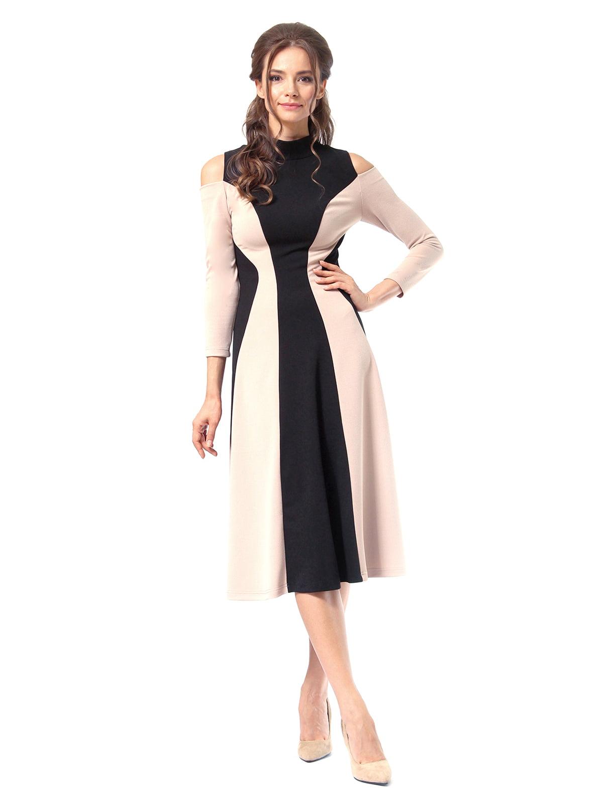 Платье двухцветное | 4518875