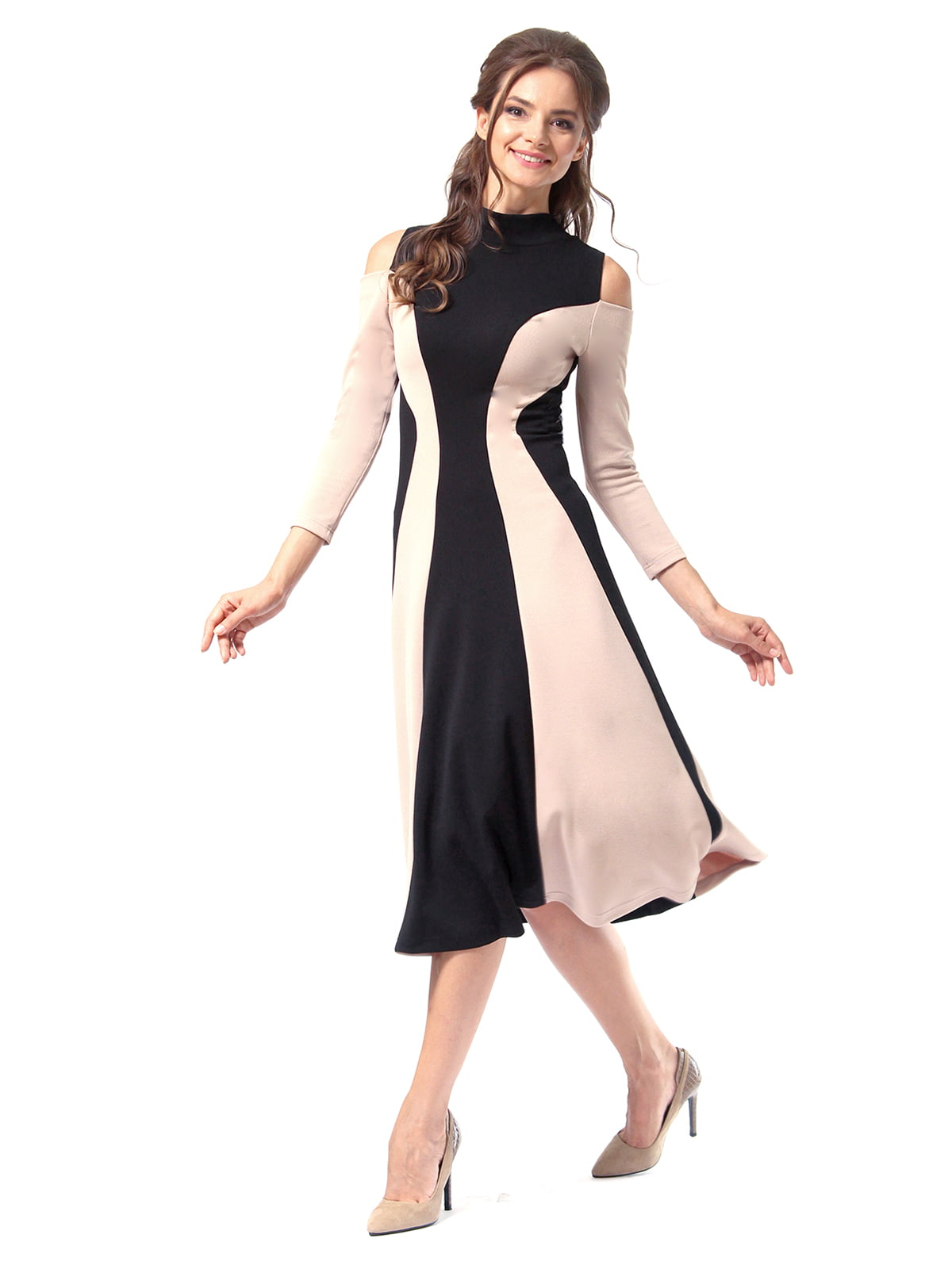 Платье двухцветное | 4518875 | фото 4