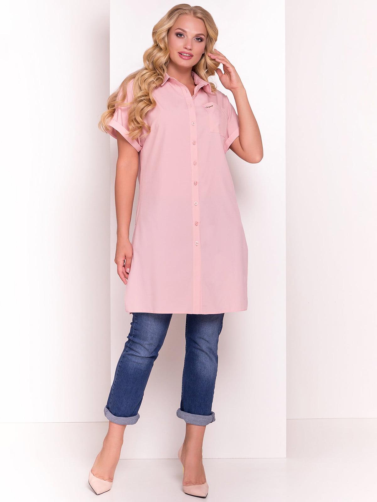 Сукня-сорочка пудрового кольору   4384281