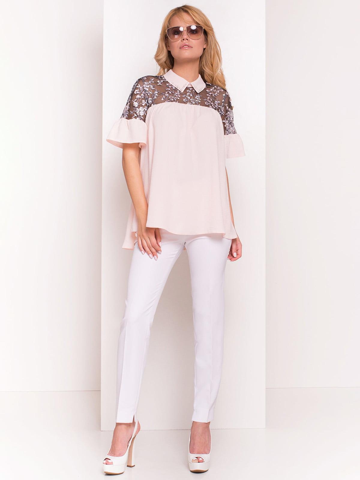 Блуза пудрового кольору | 4384359