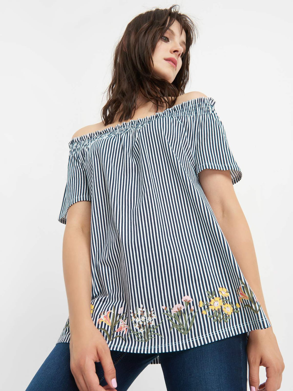 Блуза в смужку | 4520445