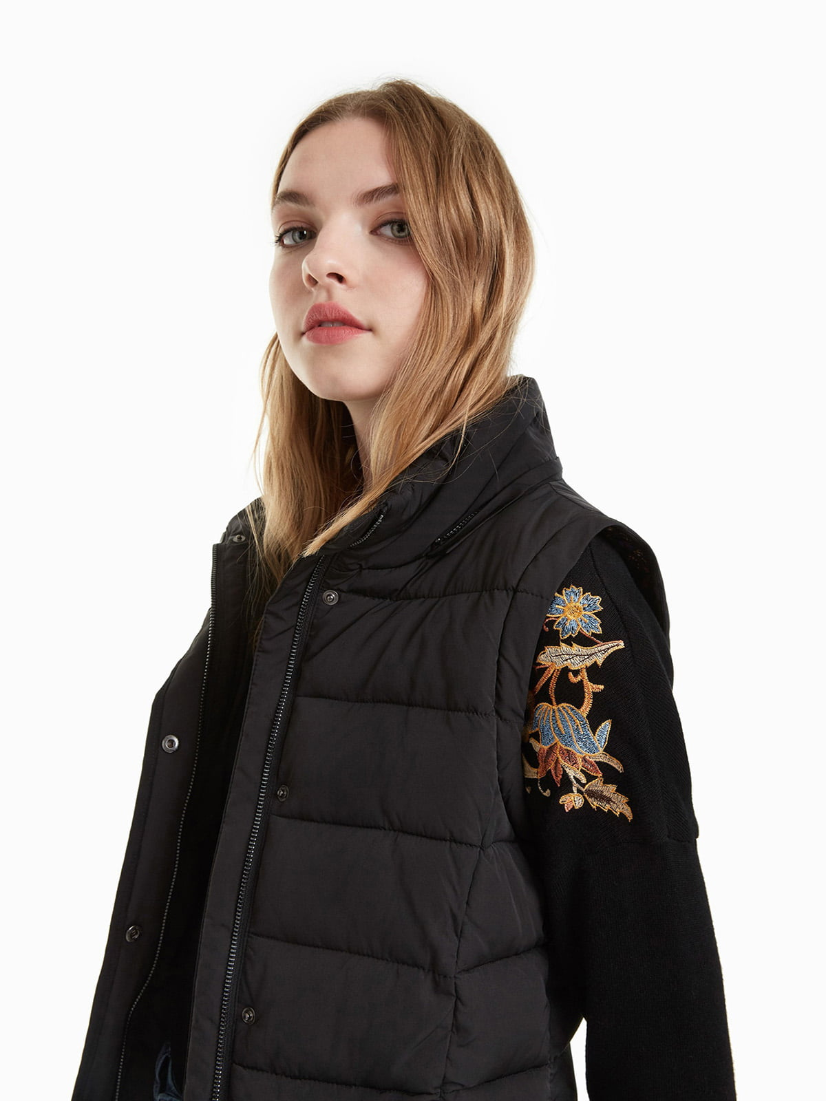 Куртка черная с принтом | 4524245 | фото 3