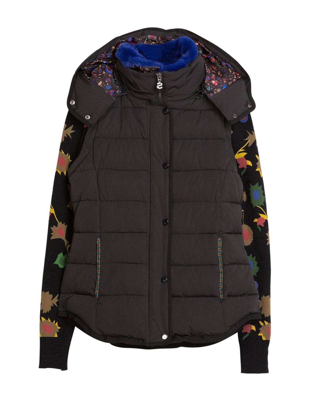 Куртка черная с принтом | 4524245 | фото 5