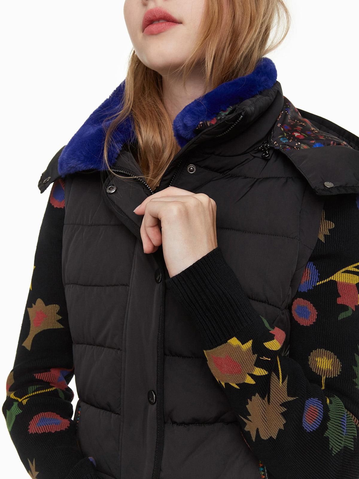 Куртка черная с принтом | 4524245 | фото 7