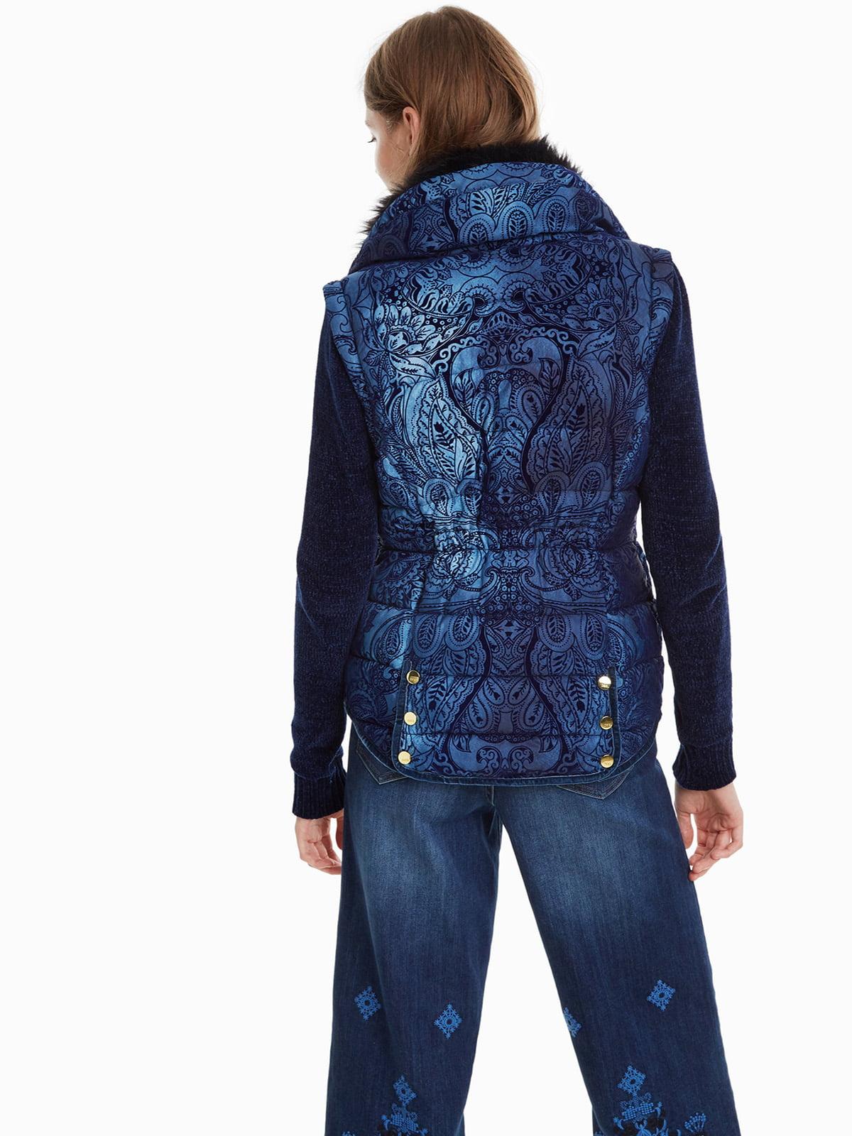 Куртка синя з принтом | 4524254 | фото 3