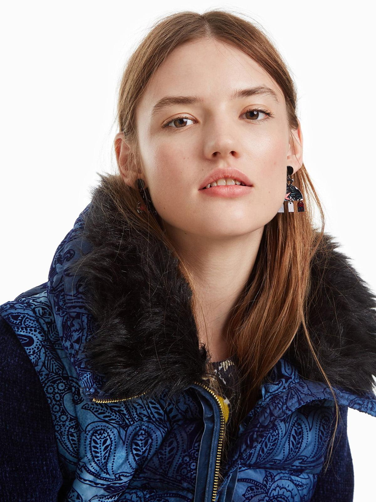 Куртка синя з принтом | 4524254 | фото 4