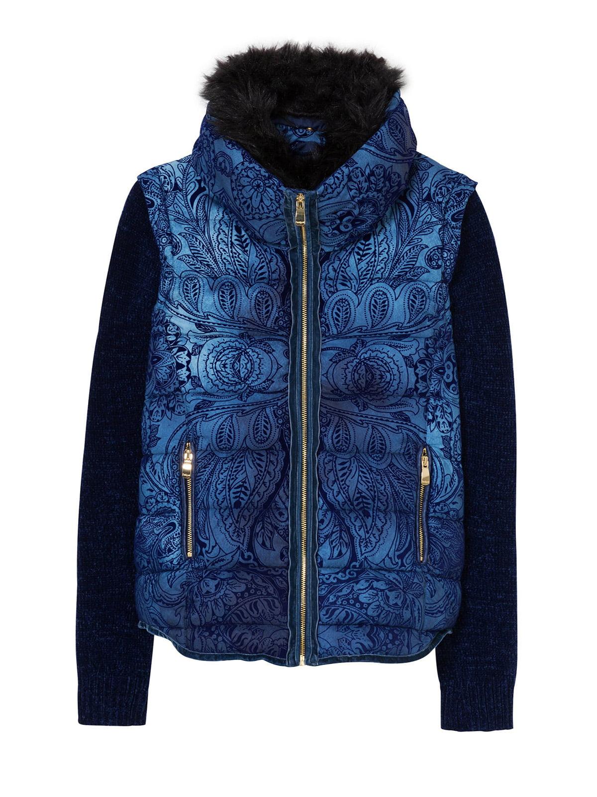 Куртка синя з принтом | 4524254 | фото 5
