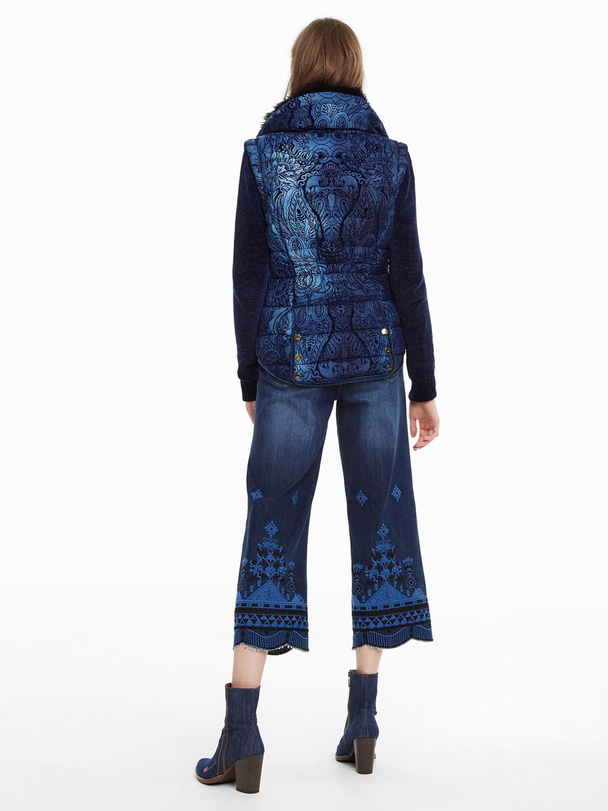 Куртка синя з принтом | 4524254 | фото 7